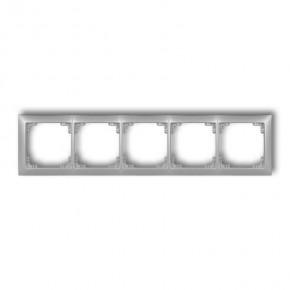 Ramki-pieciokrotne - ramka instalacyjna pięciokrotna uniwersalna srebrny metalik 7drso-5 deco soft karlik