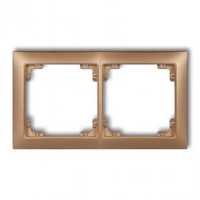 Ramki-podwojne - ramka podwójna uniwersalna złoty metalik 8drso-2 deco soft karlik