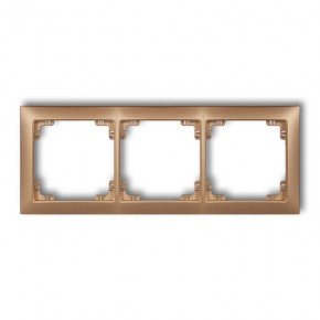 Ramki-potrojne - potrójna ramka uniwersalna złoty metalik 8drso-3 deco karlik