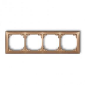 Ramki-poczworne - ramka poczwórna złota metaliczna uniwersalna 8drso-4 deco karlik