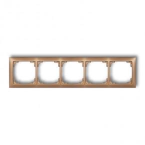 Ramki-pieciokrotne - ramka instalacyjna pięciokrotna uniwersalna złota 8drso-5 deco karlik