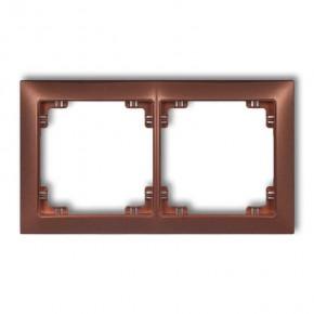 Ramki-podwojne - ramka instalacyjna podwójna uniwersalna 9drso-2 deco soft karlik