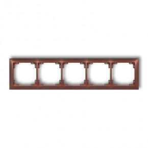 Ramki-pieciokrotne - pięciokrotna ramka instalacyjna brązowy metalik 9drso-5 deco soft karlik