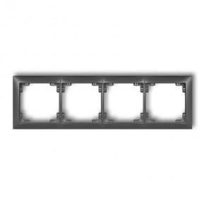 Ramki-poczworne - poczwórna ramka grafitowa uniwersalna 11drso-4 deco soft karlik