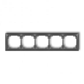 Ramki-pieciokrotne - ramka pięciokrotna uniwersalna grafitowa 11drso-5 deco soft karlik