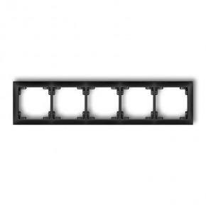 Ramki-pieciokrotne - ramka uniwersalna pięciokrotna czarny mat 12drso-5 deco soft karlik