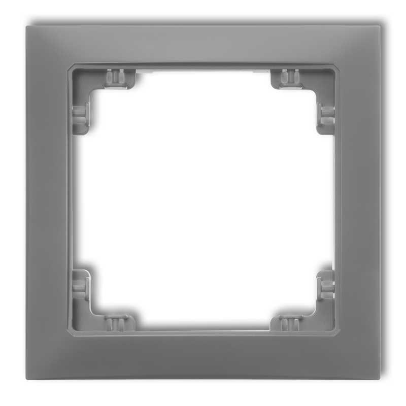 Ramki-pojedyncze - pojedyncza ramka instalacyjna szary mat 27drso-1 deco soft karlik firmy Karlik