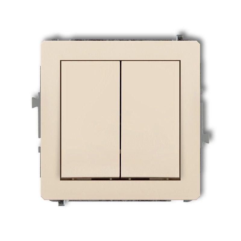 Wylaczniki-podwojne - mechanizm włącznika podwójnego beżowy 1dwp-2 deco karlik firmy Karlik