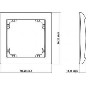 Ramki-pojedyncze - pojedyncza ramka instalacyjna szary mat 27drso-1 deco soft karlik