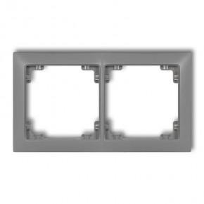 Ramki-podwojne - ramka uniwersalna podwójna szary mat 27drso-2 deco soft karlik