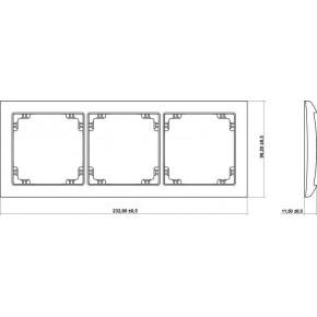 Ramki-potrojne - ramka potrójna uniwersalna szary mat 27drso-3 deco soft karlik