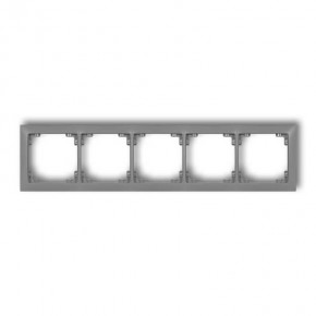 Ramki-pieciokrotne - ramka pięciokrotna uniwersalna szary mat 27drso-5 deco soft