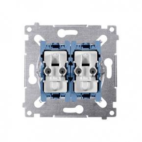 Wylaczniki-schodowe - mechanizm włącznika schodowego podwójnego z podświetleniem sw6/2xlm simon 54 kontakt-simon