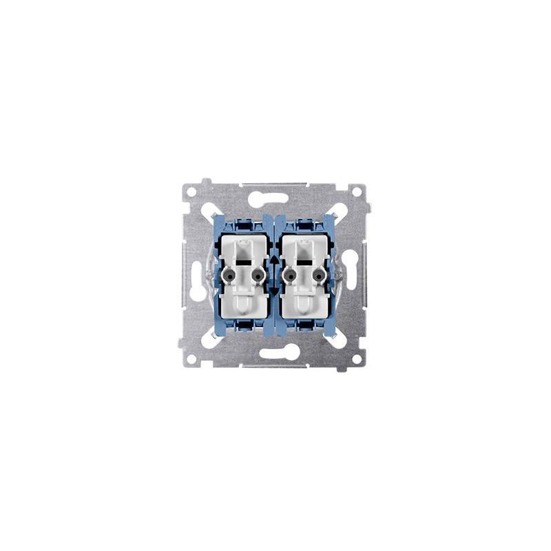 Wylaczniki-schodowe - mechanizm włącznika schodowego podwójnego z podświetleniem sw6/2xlm simon 54 kontakt-simon firmy Kontakt-Simon
