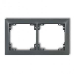 Ramki-podwojne - podwójna ramka instalacyjna grafitowy mat 28drso-2 deco soft karlik
