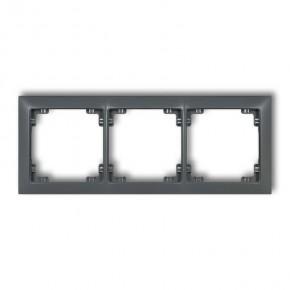 Ramki-potrojne - ramka instalacyjna potrójna grafitowy mat 28drso-3 deco soft karlik