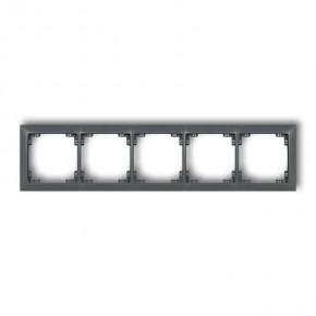 Ramki-pieciokrotne - ramka pięciokrotna uniwersalna grafitowy mat 28drso-5 deco soft karlik