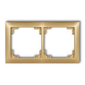 Ramki-podwojne - ramka podwójna uniwersalna w kolorze złotym 29drso-2 deco soft karlik
