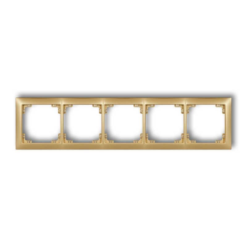 Ramki-pieciokrotne - pięciokrotna ramka złota 29drso-5 deco soft karlik firmy Karlik