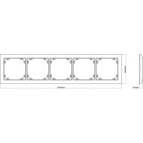 Ramki-pieciokrotne - pięciokrotna ramka złota 29drso-5 deco soft karlik