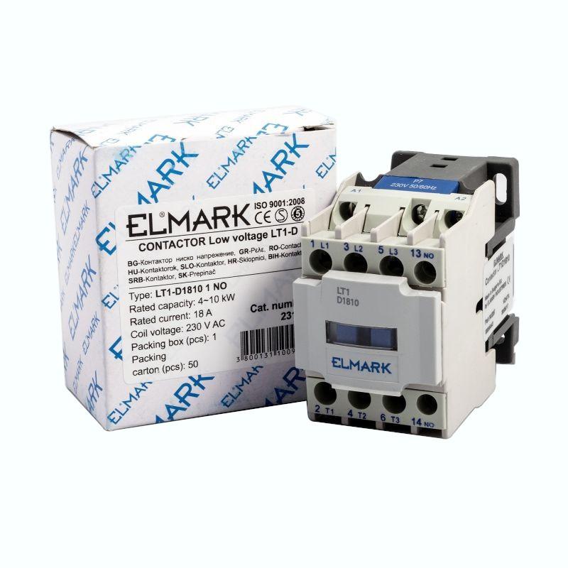 Styczniki - stycznik niskiego napięcia  18a 230v lt1-d1810 1no elmark 23181 firmy ELMARK