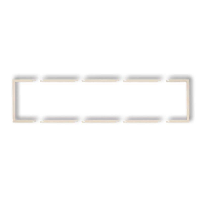 Osprzet-produkty-uzupelniajace - wypełniająca ramka poczwórna beżowa 1drw-4 deco karlik firmy Karlik