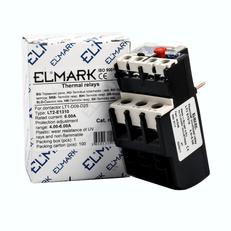 Przekazniki-termiczne - przekaźnik termiczny 4 – 6 a elmark lt2-e1310 termik firmy ELMARK