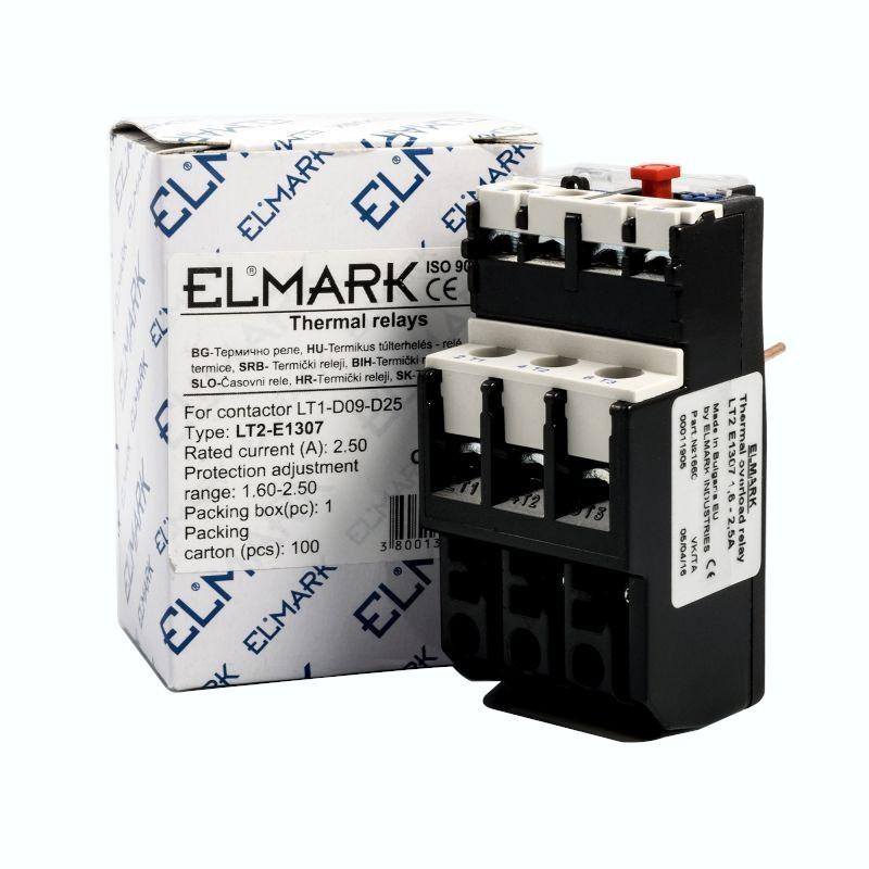 Przekazniki-termiczne - przekaźnik termiczny thermal relays lt2-e1307 1.6-2.5 elmark firmy ELMARK
