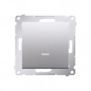 Wylaczniki-jednobiegunowe - włącznik jednobiegunowy srebrny dw1al.01/43 simon 54 kontakt-simon