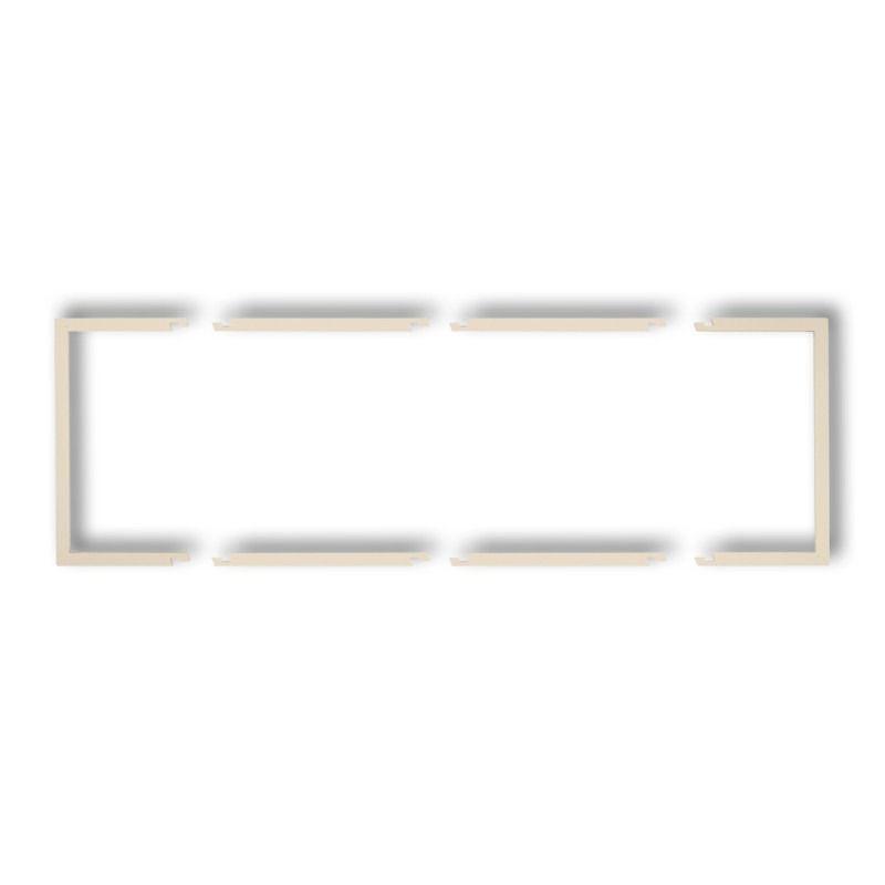 Osprzet-produkty-uzupelniajace - potrójna beżowa ramka wypełniająca 1drw-3 deco karlik firmy Karlik