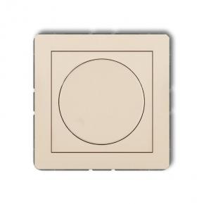 Beżowy przyciskowo-obrotowy ściemniacz do lamp LED 1DRO-2 DECO KARLIK
