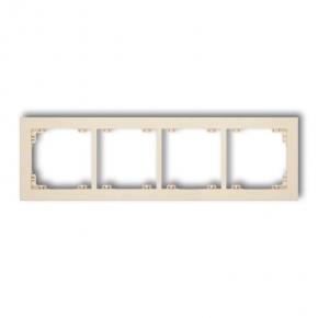 Ramki-poczworne - ramka poczwórna beżowa 1dr-4 deco karlik