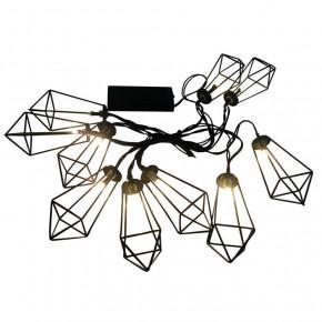 Lampy-ogrodowe-wiszace - girlanda led wewnętrzna na baterie w loftowym stylu led alborg 312891 polux