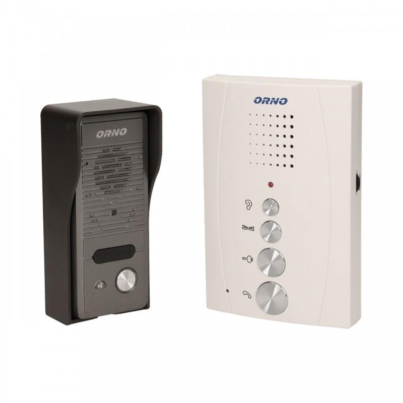 Domofony - bezsłuchawkowy zestaw domofonowy jednorodzinny eluvio biały orno firmy ORNO