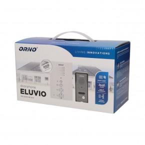 Domofony - bezsłuchawkowy zestaw domofonowy jednorodzinny eluvio biały orno