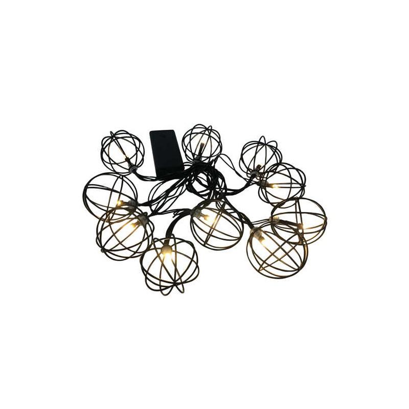 Lampy-ogrodowe-wiszace - girlanda wewnętrzna led o długości 2,1m zasilana bateryjnie led viborg 312860 polux firmy POLUX