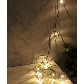 Lampy-ogrodowe-wiszace - girlanda wewnętrzna led o długości 2,1m zasilana bateryjnie led viborg 312860 polux