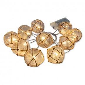 Lampy-ogrodowe-wiszace - girlanda led na baterie kule transparentne 2xaa 2,1m ahne 312938 polux