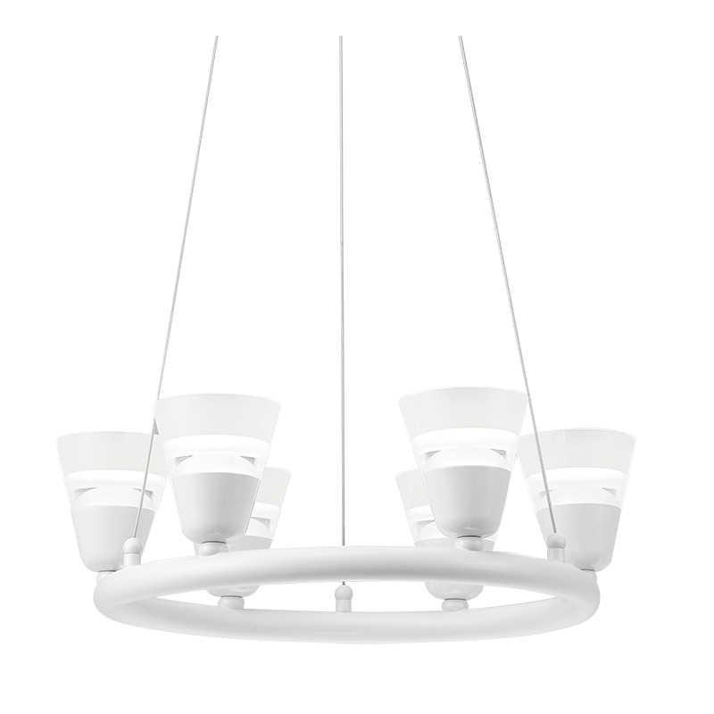 Lampy-sufitowe - led-owa lampa sufitowa wisząca ecru 30w 3000k il mio bell l-cd-69 306661 polux firmy POLUX