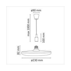 Lampy-sufitowe - czarna lampa wisząca sufitowa led o mocy 15w e27 3000k kiki 15 308122 polux
