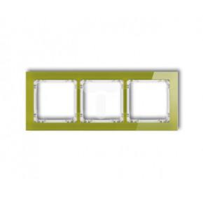 Ramki-potrojne - potrójna ramka zielona efekt szkła 2-0-drs-3 karlik