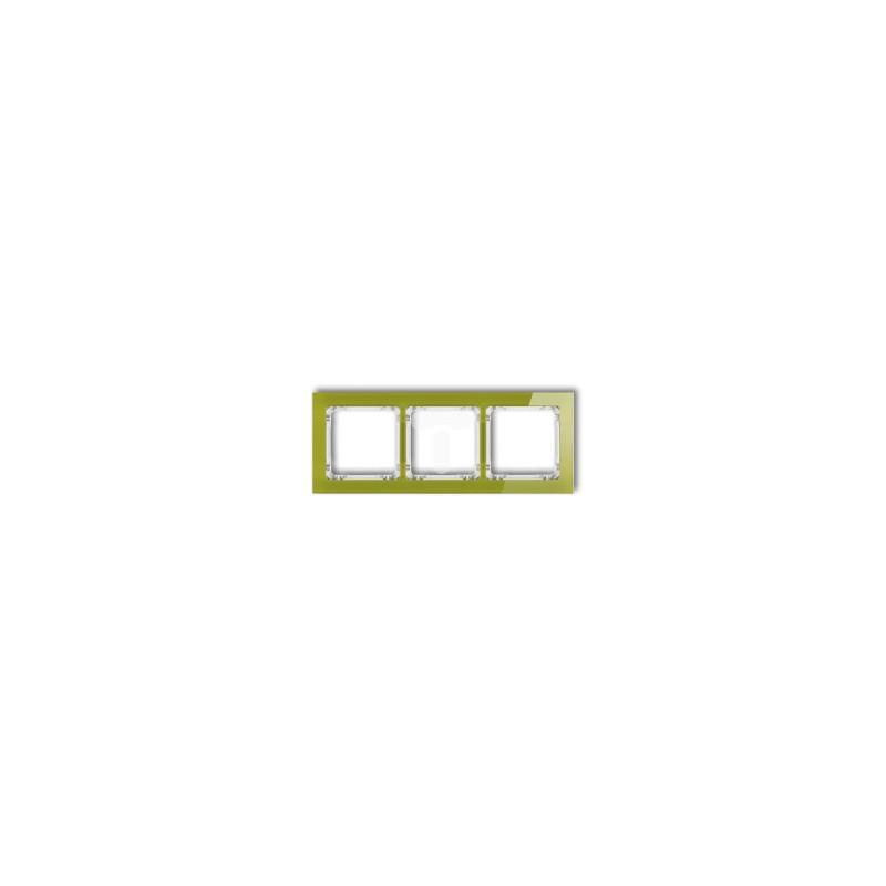 Ramki-potrojne - potrójna ramka zielona efekt szkła 2-0-drs-3 karlik firmy Karlik
