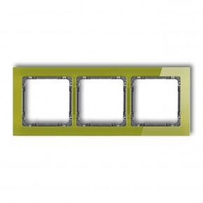 Ramki-potrojne - zielona potrójna ramka z efektem grafitowy spód deco 2-11-drs-3 karlik
