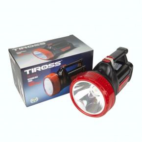 Latarki - latarka akumulatorowa ts-1875 szperacz led 5w + 20smd 2000mah 230v 12v tiross
