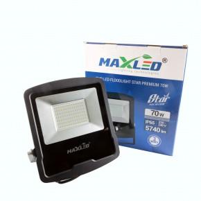 Naswietlacze-led - naświetlacz led czarny 70w maxled star premium led smd slim 5740lm ip65 120° 4500k maxled