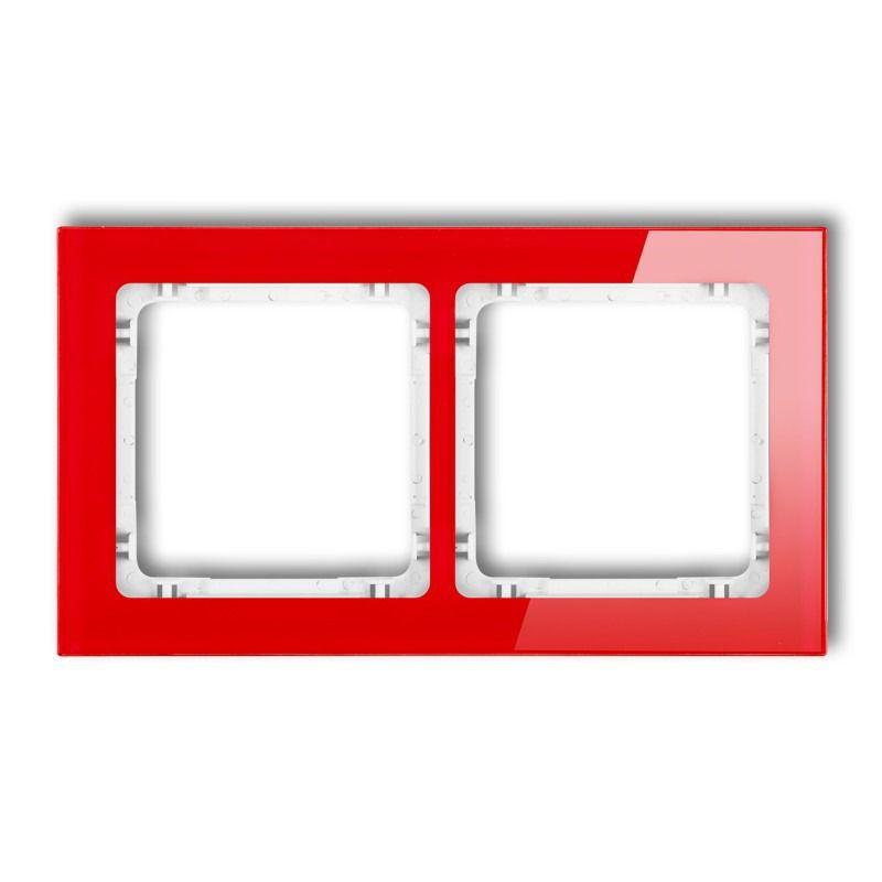 Ramki-podwojne - podwójna ramka efekt szkła czerwona/biała 17-0-drs-2 deco karlik firmy Karlik