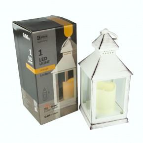Latarenki-ogrodowe - lampion led świeczka biały 24cm 3× aaa, vnt, timer emos - 1534211400