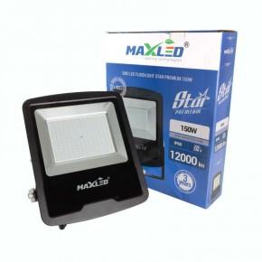 Naswietlacze-led - duży naświetlacz led o mocy 150w czarny 4500k 12000lm ip65 0540 maxled star premium