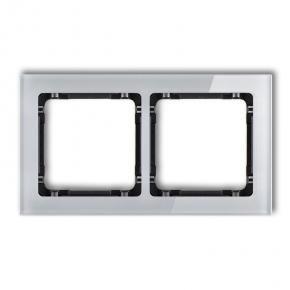 Ramki-podwojne - podwójna szara/czarna ramka z efektem szkła 15-12-drs-2 deco karlik