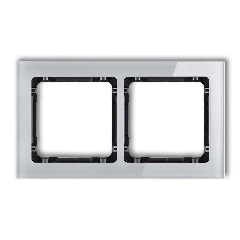 Ramki-podwojne - podwójna szara/czarna ramka z efektem szkła 15-12-drs-2 deco karlik firmy Karlik